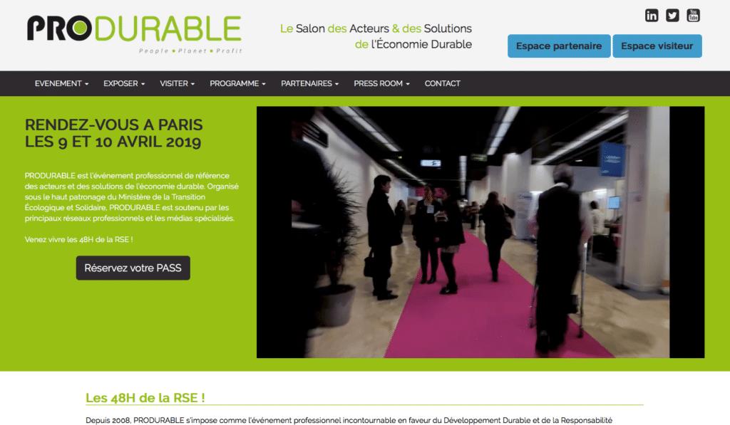 ProDurable, un des événements green professionnels du Développement Durable et de la RSE