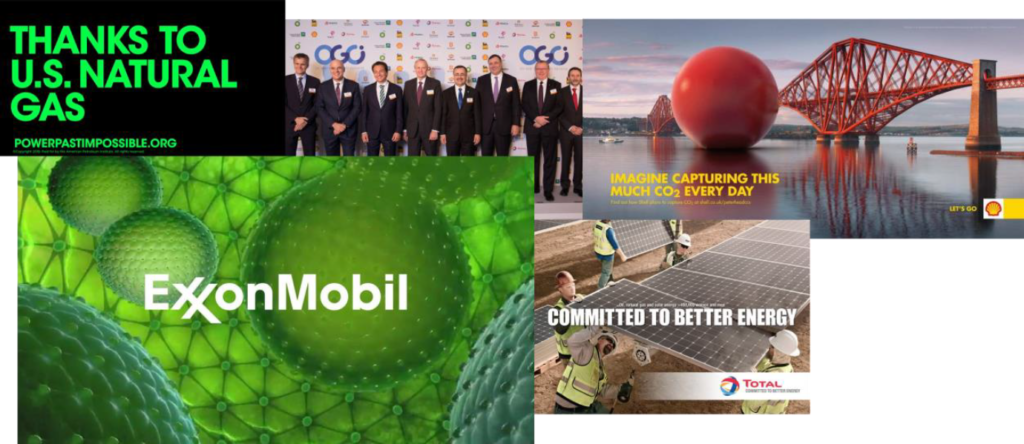 lobby petrole greenwashing