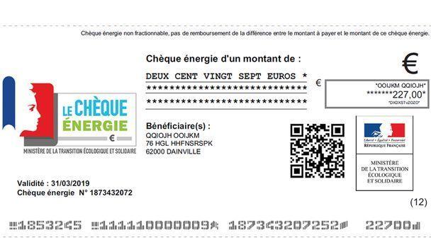 Exemple d'un chèque énergie